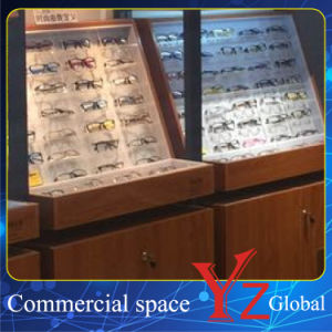 Glasses Display Cabinet (YZ160404) Glasses Showcase Glasses Exhibition Wood Cabinet pictures & photos