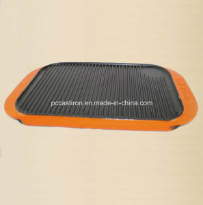 FDA Cast Iron Griddle Plate with Enaml Handle pictures & photos