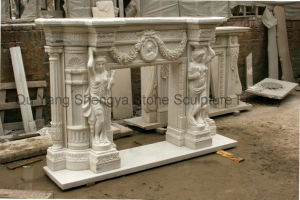 Sculpture Fireplace European Fireplace Marble Fireplace pictures & photos