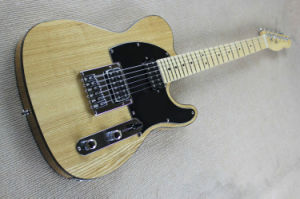 Hanhai Music/Original Wood Color Tele Electric Guitar with Open Pickups pictures & photos