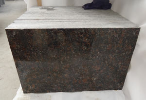 Popular Imported Polished Tan Brown Granite Floor Tile pictures & photos