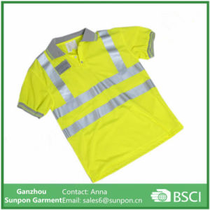 High Visability T-Shirt with 2 Reflective Strips pictures & photos