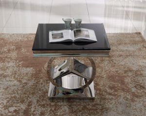 Small Table Side Table with 201 Stinless Steel Silver Base pictures & photos