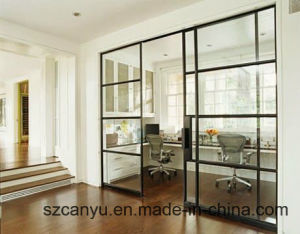 Sound Proof Aluminum Sliding Door Window Interior Room Divider Built pictures & photos