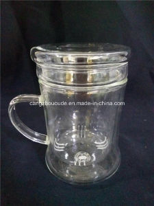 Clear Glass Teapot with Infuser pictures & photos