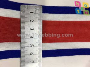 Binary Colour Red White blue Striped Webbing Tape Knitted Ribbon pictures & photos