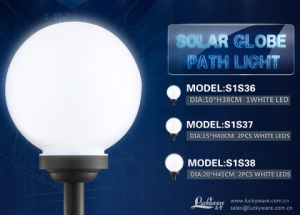 Solar Globe Path Light with 1 White LED pictures & photos