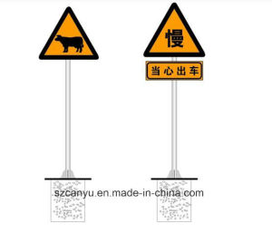 Safety Reflective Cone Sleeves Temporary Road Sign Constructive Traffic Sign pictures & photos