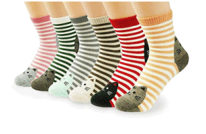 Custom Fashionable Cute Cat Jacquard at Toe and Heel Sock in Various Designs and Sizes pictures & photos