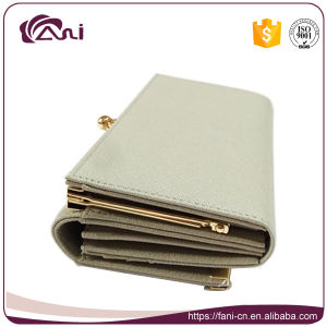 Metal Frame Wallet Fashion Design, Yong Ladies PU Leather Wallet and Purse OEM pictures & photos