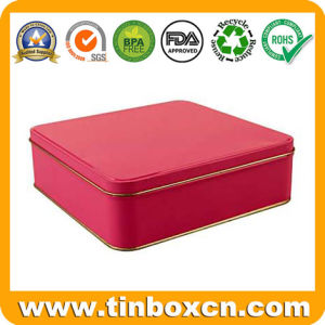 Square Metal Food Tin Can for Chocolate Biscuit Cookies pictures & photos