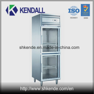 Upright Glass Door Stainless Steel Commercial Fridge