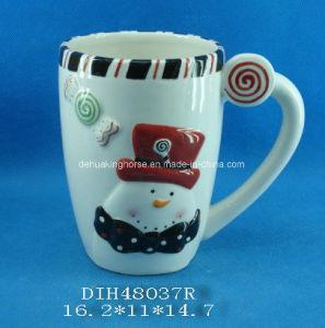 Hand-Painted Ceramic Snowmen Coffee/Tea Mug pictures & photos