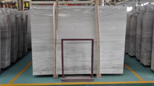 White/Grey Wood Marble Slabs/Tiles for Wall Cladding/Flooring/Stairs/Skiring/Mosaic/Countertops pictures & photos