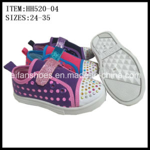 Newest Children Injection Canvas Shoes Casual Shoes (HH520-04) pictures & photos