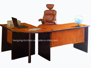 Cherry Color Classic MFC Laminated Melamine Office Table (HX-FCD018) pictures & photos