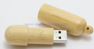 A Grade Chip Laser Engraving Logo Wooden USB Pen Drive pictures & photos