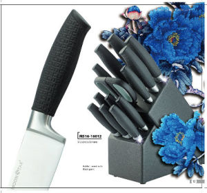 Forged Handle Series Kitchen Knife (MS16-16012) with Wood Block pictures & photos