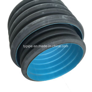 Sn4 Sn8 200mm - 800mm HDPE Double-Wall Corrugated Pipe for Drainage Underground pictures & photos