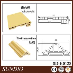 Wood Plastic Composite WPC Press Line Decorative Moulding pictures & photos