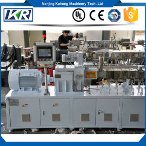 Tse-50 Starch Plastic Compounding Pelletizer/Mini PVC Free Foam Plastic Water-Ring Pelletizer Granulator/Double-Stage Small Plastic Products Making Machine pictures & photos