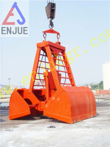 Electro-Hydraulic Remote Control Clamshell Grabber Bucket pictures & photos