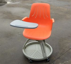 School Study Chair with Writing Pad on Wheels pictures & photos