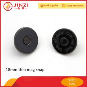 18mm Thin Magnetic Button Big Metal Magnetic Snap Button for Leather Handbags pictures & photos