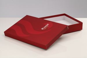 Paper Base and Lid Wing Package Box with Handle pictures & photos