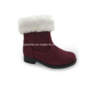Fitted Children Boots Shoes for Outdoor (17334 Wine) pictures & photos