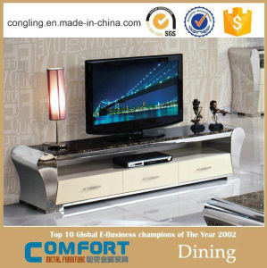Modern Design High Gloss White TV Table Stand Model pictures & photos