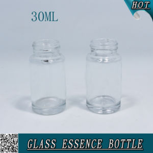 1 Oz 30ml Clear Cosmetic Glass Bottle with Plastic Screw Cap pictures & photos