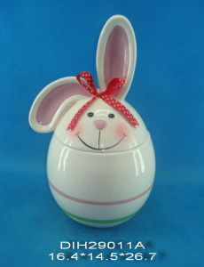 Easter Bunny Ceramic Cookie Jar (hand-painted) pictures & photos
