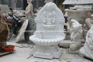 White Carrara Stone Sculpture Wall Fountain (SY-F114) pictures & photos