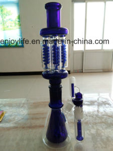 Amazing Detachable Glass Smoking Set Blue Color Beaker pictures & photos