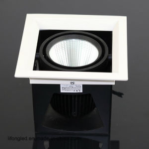 Black Design Recessed COB 18W LED Grille Lights Downlight pictures & photos