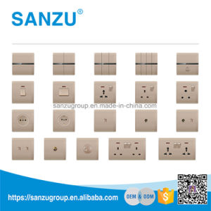Wholesale New Design 2gang 13A Wall Switch pictures & photos