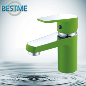 Green Brass Basin Faucet for Bathroom (BM-B10013P) pictures & photos