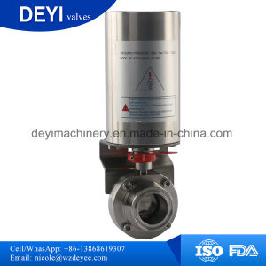 "1"" Normally Closed Pneumatically Actuated Butterfly Valve pictures & photos"