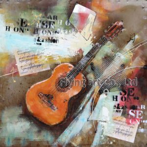 3D Metal Painting for a Girl Paying Violoncello pictures & photos