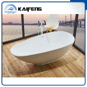 Upc Luxury Unique Stand Alone Soaking Bathtub (KF-763) pictures & photos