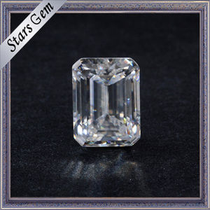 Hot Sale Clear White 1 Carat Emerald Cut Moissanite Diamond pictures & photos