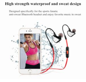 High Strength Waterproof Built-in Microphone Sport Bluetooth Earphone pictures & photos