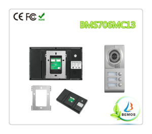 """Wired 7"""" Color Touch Button Design Video Intercom Doorphone pictures & photos"""