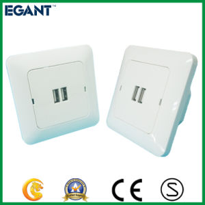 Dual USB Socket with Beautiful Appearance Design pictures & photos