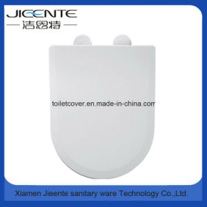 Ultrathin Toilet Seat Urea Soft Closed and Two Button Quick Release pictures & photos