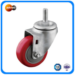 3-Inch Precision Ball Bearing TPU Wheel M12 Thread Caster pictures & photos