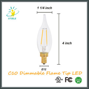 Stoele C10/C32 Dimmable Flame Tip Candle LED Filament Outdoor Light 2W/4W pictures & photos