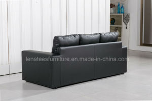 Lk-9103 Hotel Room Living Room Leather Sofa Bed with Mattress pictures & photos