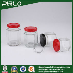(45ml 60ml 80ml 100ml 180ml 280ml 380ml 770ml) Clear Empty Food Storage Glass Jar Polygon Glass Jar with Screw Lid pictures & photos